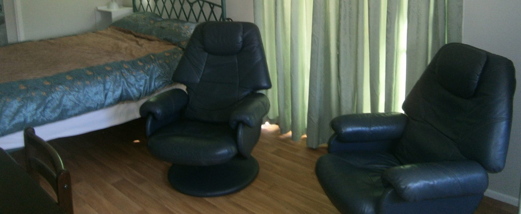 Comfy leather recliners