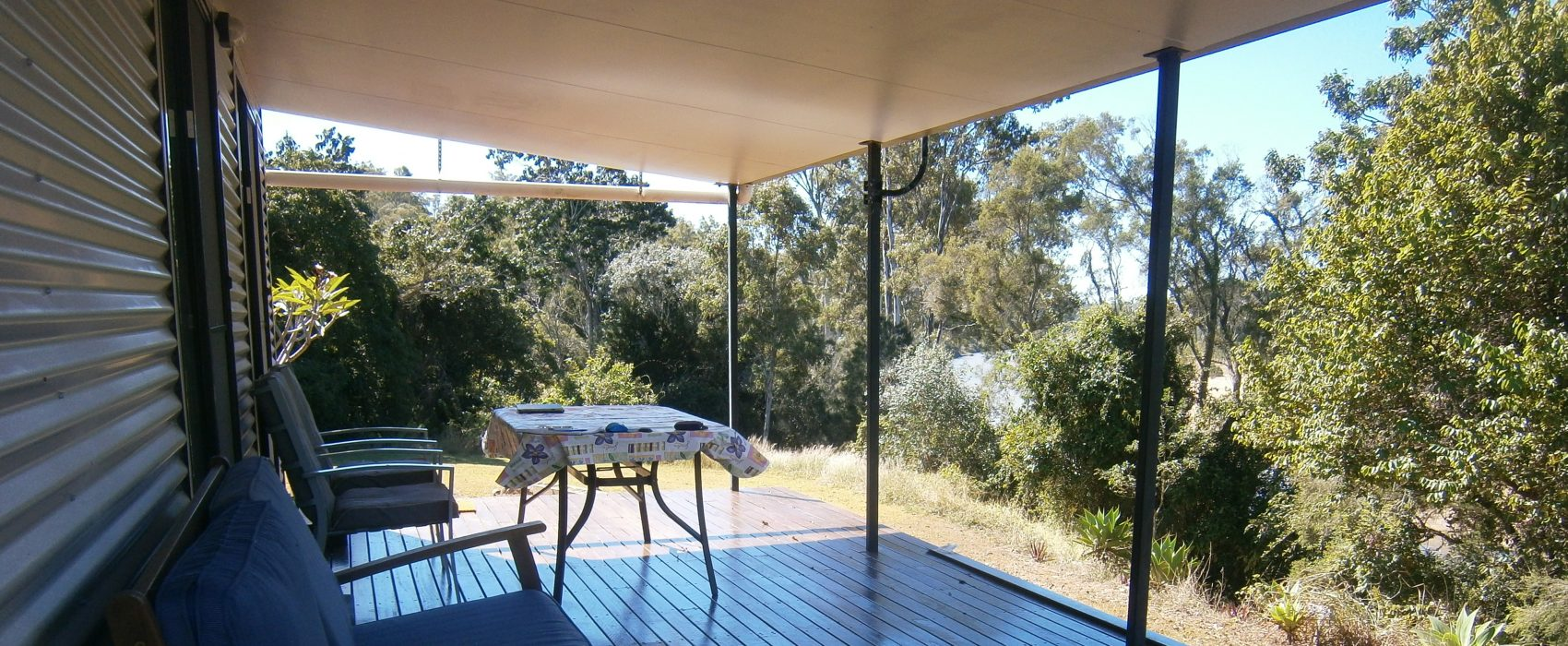The cabin decking