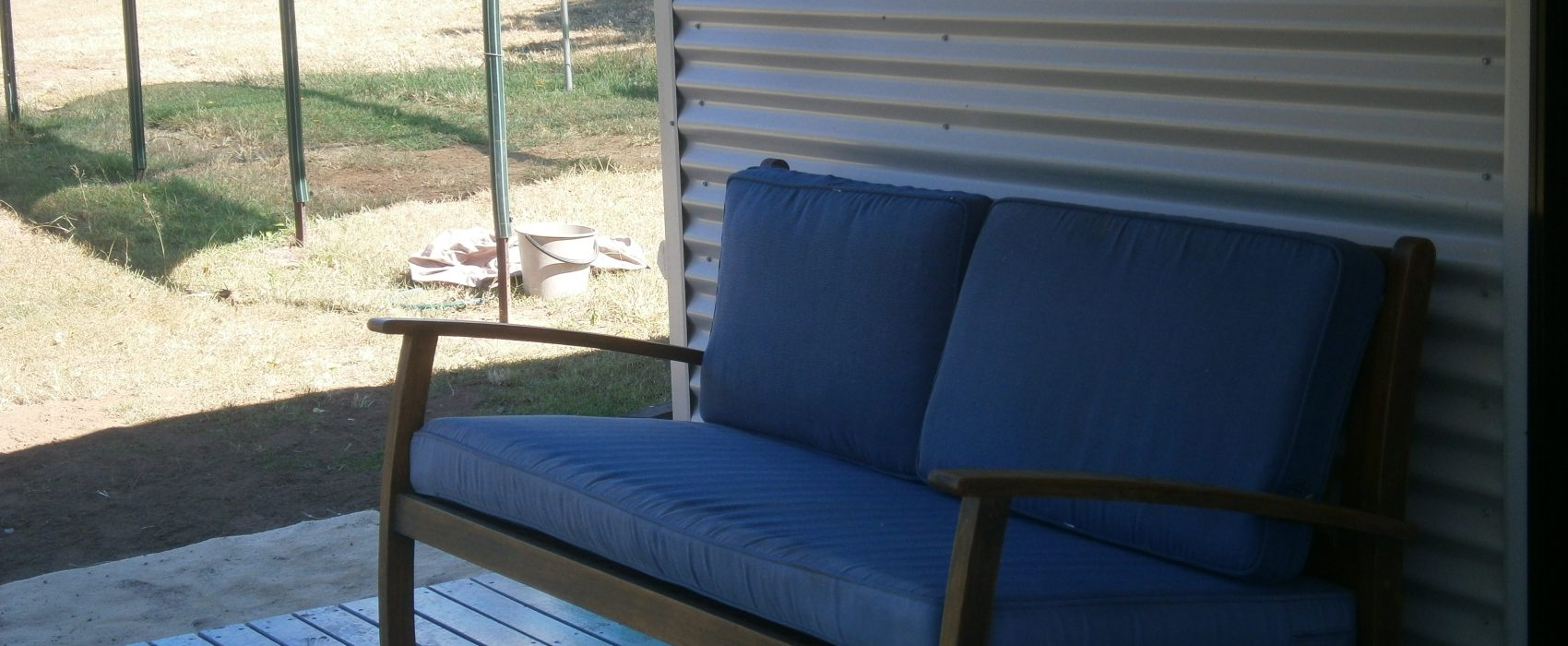 day bed on verandah